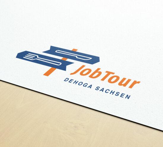 DEHOGA Jobtour Logo Gabel und Messer als Wegweiser
